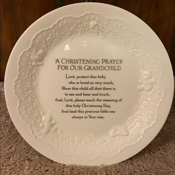Christening keepsake plate